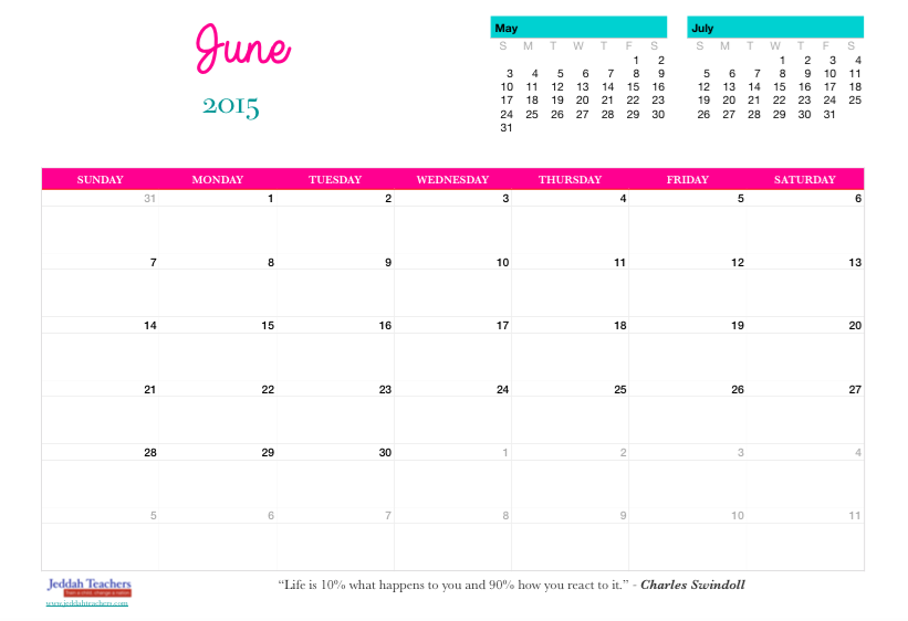 FREE Downloadable 2015 Calendar/ Planner!