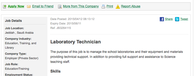 Looking For a Laboratory Technician