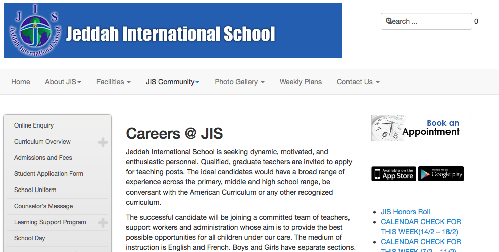 Careers at JIS