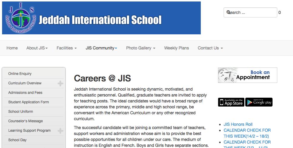 Careers at JIS
